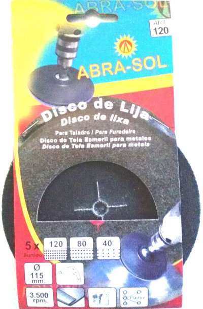 Disco De Tela Esmeril Para Metales Abra Sol 115 Mm Art. 120