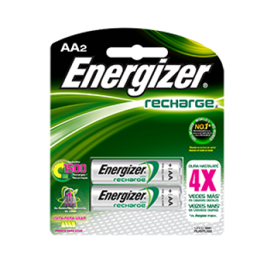 Energizer®  Recargable AA Batteries